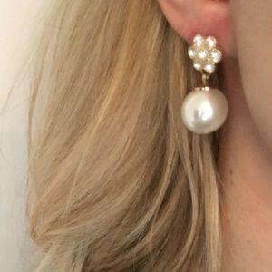 J. Crew Jeweled Pearl Earrings